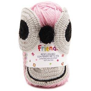Cisne Friends Gorro Macaco Cor 002 Rosa R.772PMAC-00002 Coats Corrente