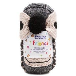 Cisne Friends Gorro Macaco Cor 001 Cinza R.772PMAC-00001 Coats Corrente