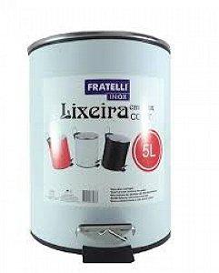 Lixeira Com Pedal Shape Branca 5 Litros R.632873/BC  Fratelli
