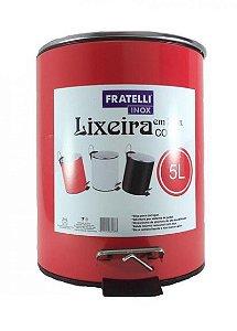 Lixeira Com Pedal Shape Vermelha 5 Litros R.632873/VM Fratelli
