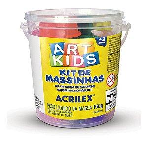 Kit De Massinha De Modelar 1 150 Gramas 40001 Acrilex 40001
