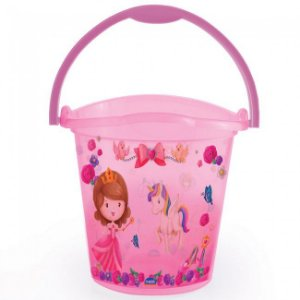 Balde Infantil Decorado Baby Princess 8 Litros 7115 Plasútil