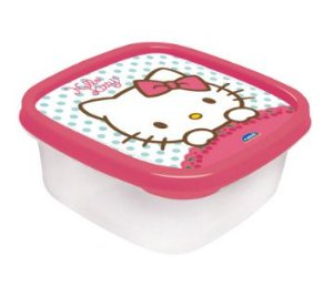 Clic Pote Quadrado Hello Kitty 580ml Plasútil 6996