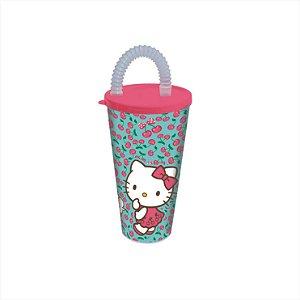 Copo Com Canudo 430ml Hello Kitty R.6993 Plasutil