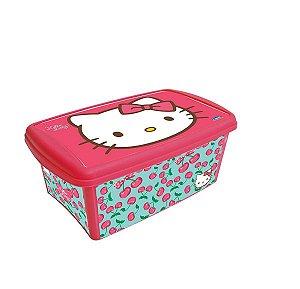 Caixa Organizadora Decora 4,2 Litros Hello Kitty R.6989 Plasutil
