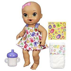 Boneca Baby Alive Hora do Xixi Morena A9293 Hasbro