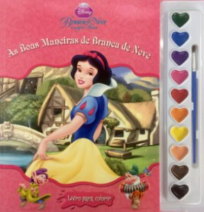 Livro Para Colorir Princesa Branca de Neve DCL