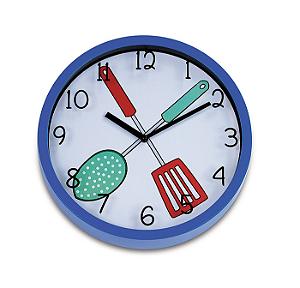 Relógio de Parede Kitchen I 25cm Azul Ricaelle EG6910A-HF70