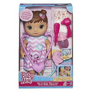 Boneca Baby Alive Cuida de Mim Morena R.C2692 Hasbro