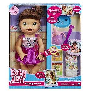 Boneca Baby Alive Hora de Comer Morena R. A8346 Hasbro