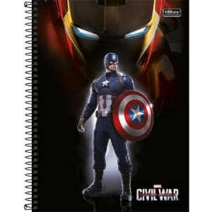 Caderno Universitario 10X1 Capitão America Tilibra 146251