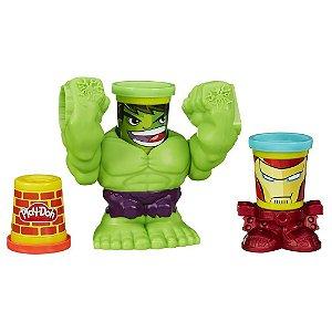 Play Doh Marvel Pote Hulk Esmaga B0308 Hasbro