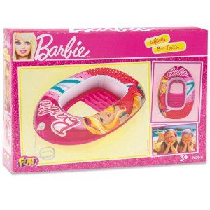 Bote Inflável Barbie Fashion 7670-8 Fun
