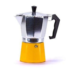 Cafeteira Italiana Aluminio 6 Cafes 300ML Amarela R.1705 Weck