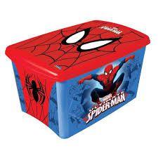 Caixa Organizadora Homem Aranha 46 Litros R.6208 Plasutil