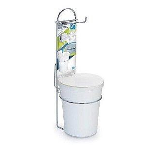 Porta Papel Higiênico Com Lixeira Plastica R.1246 Arthi
