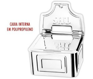 Saleiro Inox Com Revestimento Plastico R.07.22 Makinox