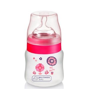 Mamadeira Ortonatural 125ml Boys&Girls PP Rosa Multikids BB104