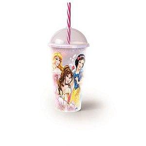 Copo Shake Princesas Com Canudo 500ml R.8301 Plasutil