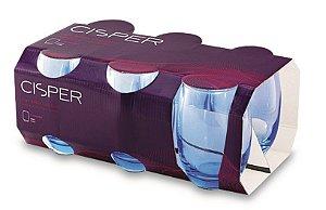 Jogo de Copos 6 Peças Bellize Long Drink 450ml Blue R.887-23 Cisper