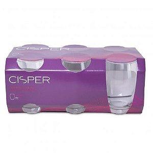 Jogo de Copos 6 Peças Bellize Long Drink 450ml Cristal R.885-23 Cisper
