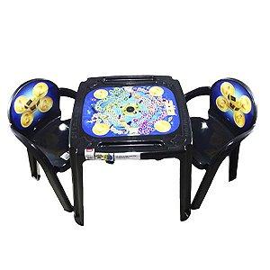 Conjunto Mesa e 2 Cadeira Infantil Caça ao Tesouro Plasutil