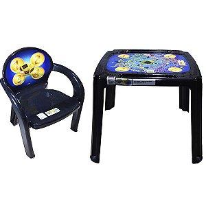 Conjunto Mesa e 1 Cadeira Infantil Caça ao Tesouro Plasutil
