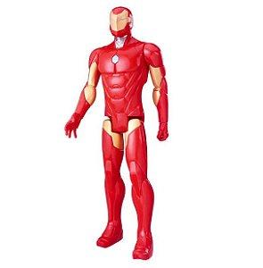 "Boneco Iron Man Figura Titan 12"" C0756 Hasbro"