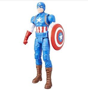 "Boneco Capitao America Figura Titan 12"" C0757 Hasbro"