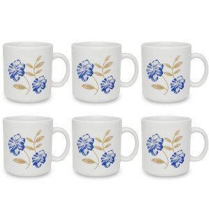 Conjunto Com 6 Canecas 270ml Azul Perfeito Biona
