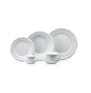 Aparelho De Jantar 42 Peças Pomerode Branco R.114.000 Schmidt
