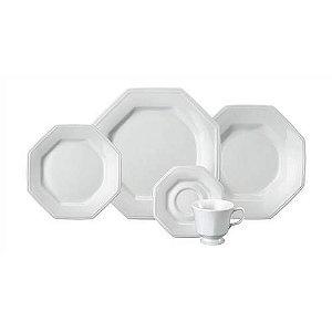 Aparelho De Jantar 42 Peças Prisma Branco R.077.000 Schmidt