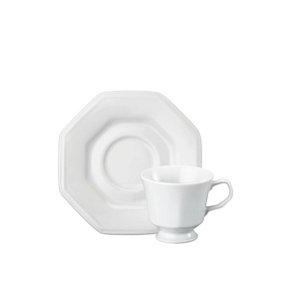 Jogo De Xicaras Cafe 06 Peças Prisma Branca R.077.000 Schmidt