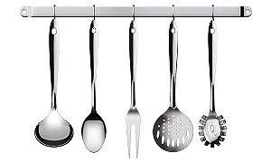 Conjunto De Utensílios De Cozinha 6 Peças Com Suporte IN2704 Euro Home