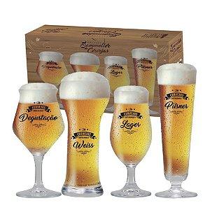 Conjunto de Taças para Cervejas Claras Beer Sommelier 4 Peças R.4800002 Ruvolo