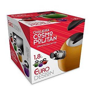 Chaleira Cosmopolitan Inox 1,8 Litros Vermelha IN2360VM Euro Home