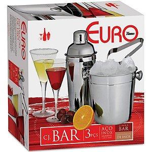 Conjunto de Bar Inox 3 Peças IN9253 Euro Home