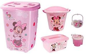Kit Infantil Minnie Baby 5 Peças Plasutil