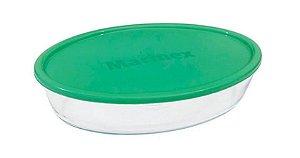 Assadeira Oval Pequena 2,4 Litros Com Tampa Colorida GD1.6345.25-9 Marinex