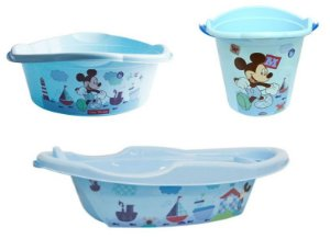 Kit Infantil Mickey Baby 3 Peças Plasutil