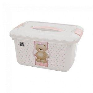 Caixa Organizadora Baby Urso Rosa 5,2 Litros 8205 Plasutil