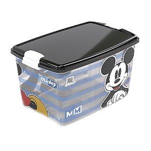 Caixa Organizadora Com Trava Mickey 46 Litros 185 Plasutil