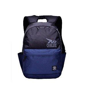 Mochila Escolar Esportiva Onbongo Preta/Azul Reforçada ONM802202 Santino