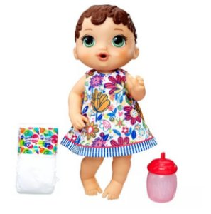 Boneca Baby Alive Hora do Xixi Morena New E0499 Hasbro