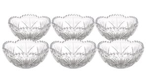 Jogo com 6 Bowls de Cristal de Chumbo Alberta 270 ml 3810 Lyor