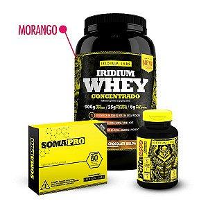Kit Crescer - WPC Morango (900g) + Soma Pro (60 comprimidos) + BCAA 2500 (120 comprimidos)