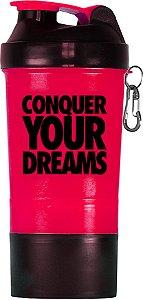 Coqueteleira Conquer your dreams - 500ml - rosa