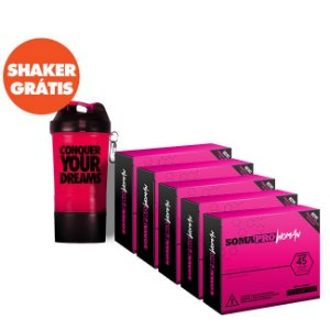 Kit 5 Caixas de Soma Pro Woman + Shaker Grátis