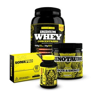 Kit Fortalecer - WPC + Minotauro + Soma Pro (60 comprimidos) + BCAA 2500
