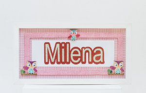 Porta de Maternidade 3D (Meninas)